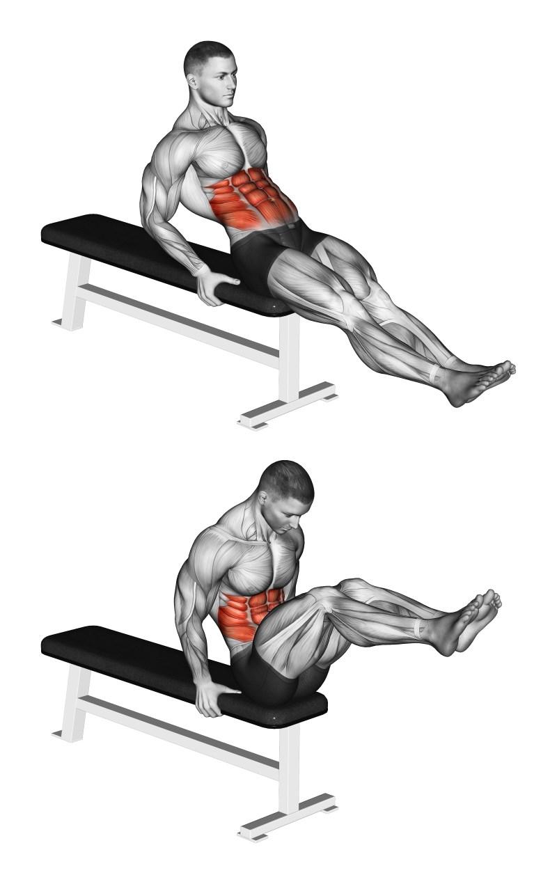 leg tucks da seduti - esercizio per addominali - ? muscoli